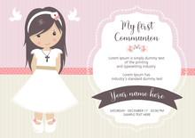 My First Communion Invitation....