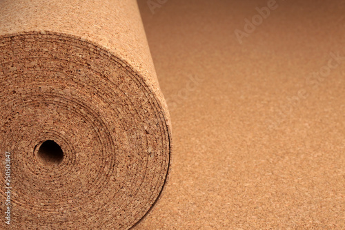Valokuva  Roll of cork underlay, for backgrounds or textures