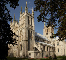 SELBY ABBEY IN YORKSHIRE, ENGLAND, UK