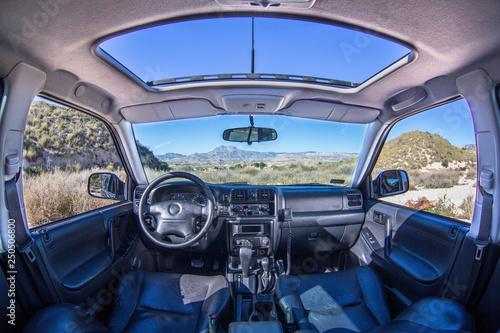 Fototapeta Samochód widok wnętrze obraz