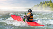 White Water Rafting In Nature