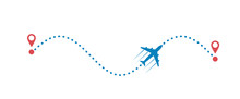 Plane And Its Track Isolated O...