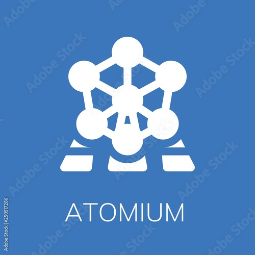 Canvas Print Atomium icon
