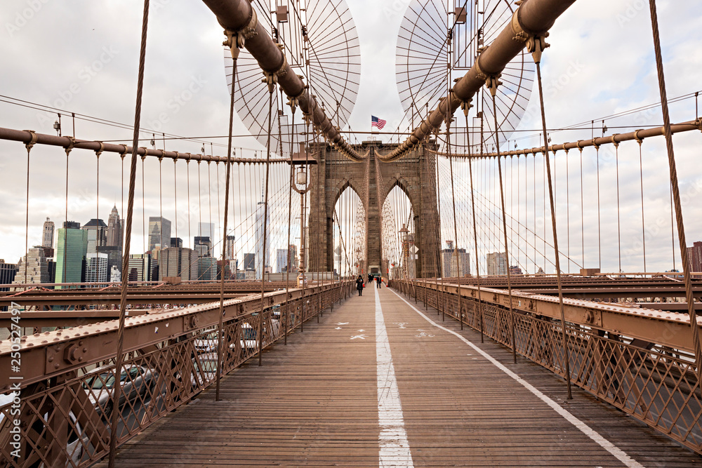 Fototapety, obrazy: Puente de Brooklyn en Manhattan.