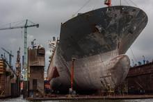 Gdansk Shipyard With Monumenta...
