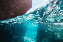 Close-up Of Rocks Underwater In Sea