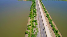 Highway Stretching Over Lake T...