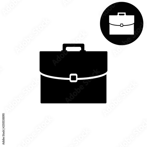 Valokuva briefcase  - white vector icon