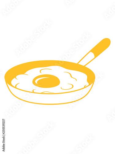 Spiegelei Bratpfanne Kochen Braten Essen Ei Eigelb Eiweiss Fruhstuck