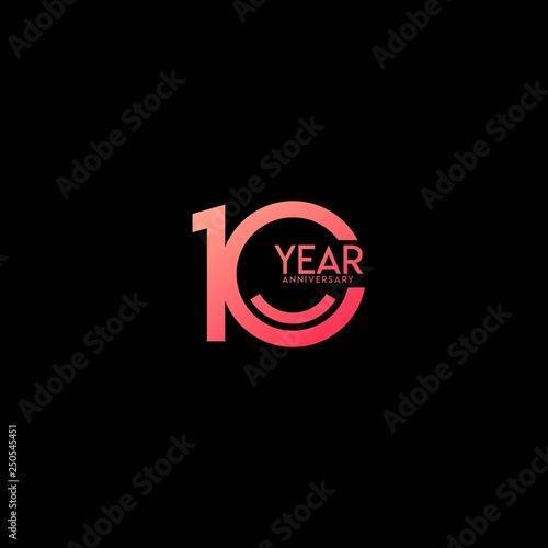Photo  10 Year Anniversary Celebration Vector Template Design Illustration