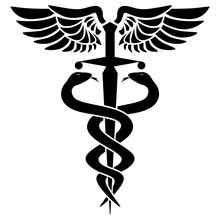 Caduceus Medical Symbol, With ...