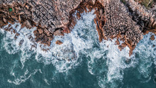 Drone Aerial Top View Of Sea W...