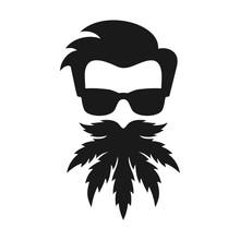 Head Of Marijuana. Beard Canna...