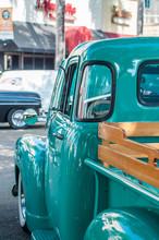 Blue Classic Pickup Truck