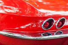 Red Classic Car Rear Headlights