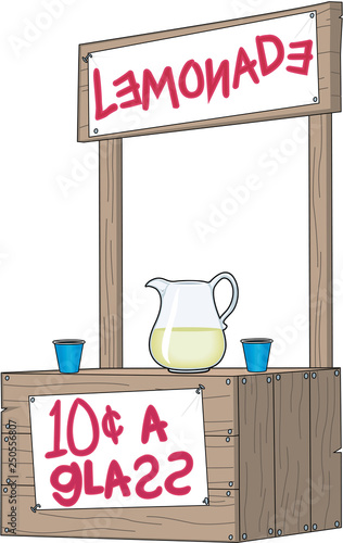 Lemonade Stand Vector Illustration Canvas Print
