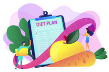 Nutrition Diet Concept Vector Illustration.