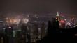 WS HA Financial district skyline at night with firework display / Hong Kong, China