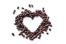 Love Of Coffee Beans In The Sh...
