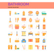 Bathroom Icons Set. UI Pixel Perfect Well-crafted Vector Thin Line Icons. The illustrations are a vector.