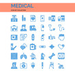 Medical Icons Set. UI Pixel Perfect Well-crafted Vector Thin Line Icons. The illustrations are a vector.