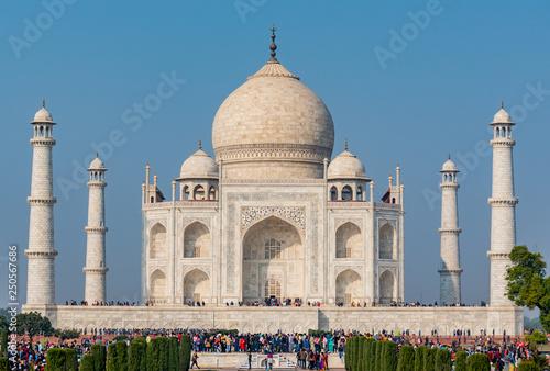 Fotografie, Obraz  Agra, India - 27 December 2018 : Taj Mahal is a white marble mausoleum , The Taj Mahal at Agra, Uttar Pradesh, India