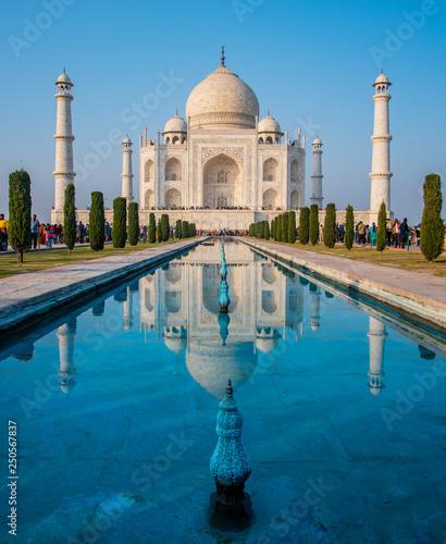 Agra, India - 27 December 2018 : Taj Mahal is a white marble mausoleum , The Taj Mahal at Agra, Uttar Pradesh, India. Wall mural