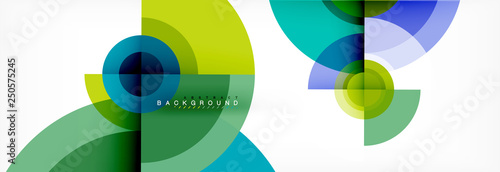 Geometric circle abstract background, creative geometric wallpaper Fototapet