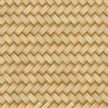 Reed Mat With Woven Texture Of...