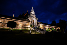 Phra Thad Lampang Luang Temple In The Night