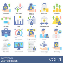 Investing Icons Including Inve...