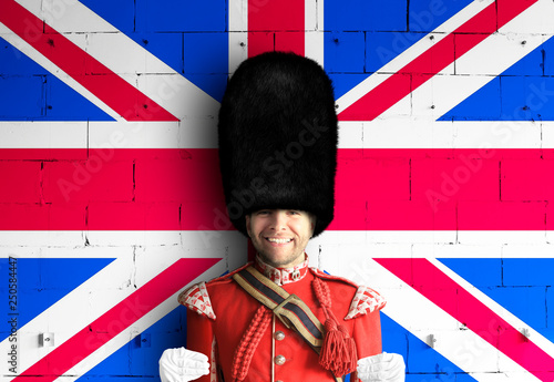 Fotografie, Obraz Young man in the costume of the Royal guards of Britain