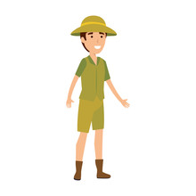 Man Worker Of Zoo Character