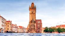 Town Hall Square In Prague, Czech Republic