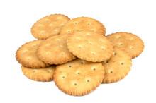 Crispy Cracker Isolated On Whi...