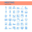 Meeting Icons Set. UI Pixel Perfect Well-crafted Vector Thin Line Icons. The illustrations are a vector.