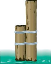 Marine Pilings Vector Illustration