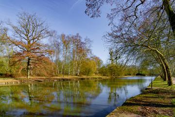 Fototapeta na wymiar Park around Rambouillet castle