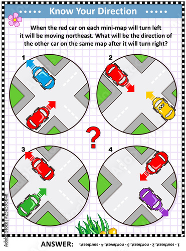 Map skills and cardinal directions learning, training ... on car road map, car map parts, car world bugatti veyron, car services, car history, car trip, car driving map,