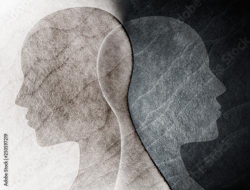 Fotografía  Bipolar disorder mind mental concept