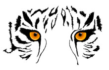 Tiger Eyes Mascot. Vector Illu...