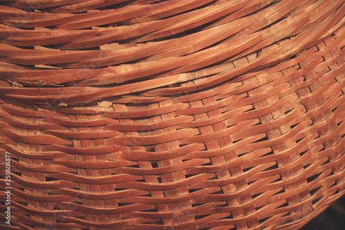 Fotografiet  woven wood bamboo wall texture background