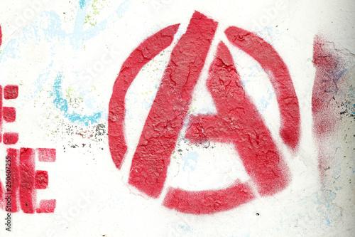Fotografie, Obraz  Rotes A für Anarchie