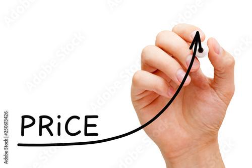 Fotografía  Increasing Price Business Graph Concept