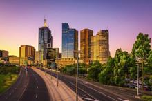 Summer Sunset Above Melbourne