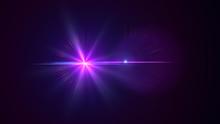 Bright Violet Lensflare