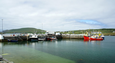 West of Ireland.County Kerry.Small fishing port Portmagee.