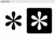 Asterisk Symbol Illustrations