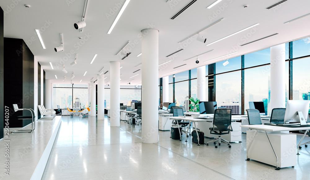 Fototapeta 3d modern office interior render