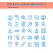 Job and Human Resources Icons Set. UI Pixel Perfect Well-crafted Vector Thin Line Icons. The illustrations are a vector.
